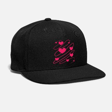 Hearts Vector Flying Hearts Vector - Snapback Cap