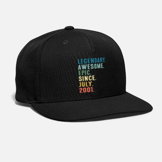 Since Caps - Legendary Awesome Epic since July 2001 Gift - Snapback Cap black