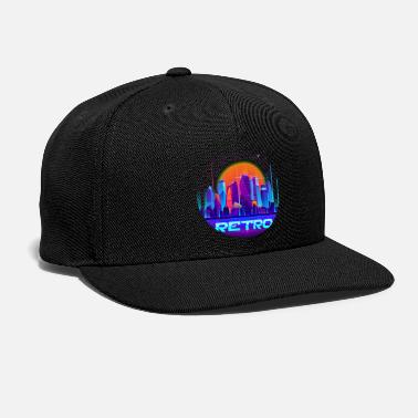 Blue Pink embroidery Eco friendly Synth music Synthwave Splt Sun Organic Ribbed Beanie retro aesthetic knit cap Gift for Him or Her