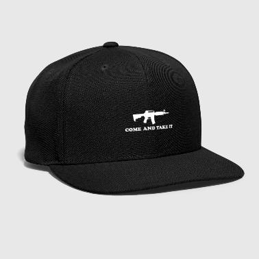 Rifle ASSAULT RIFLE WITH QUOTE! GIFT IDEA FOR GUN FANS - Snap-back Baseball Cap