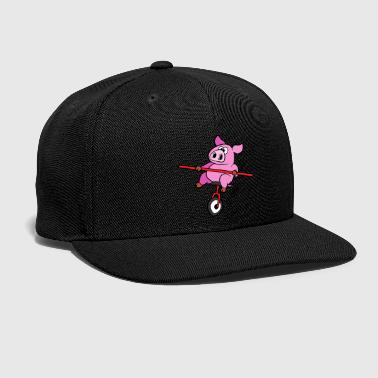 Mountains Pig Pork Unicycle Bike Cyclist Cycle Biking - Snap-back Baseball Cap