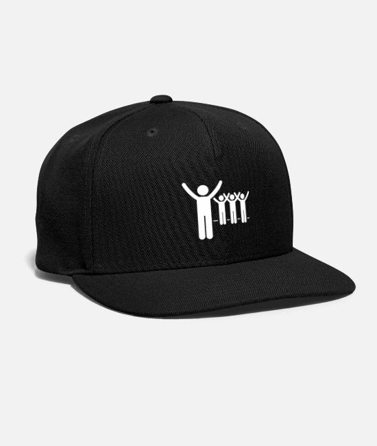 Sticker Caps & Hats - Volunteer Stick Figure - Snapback Cap black
