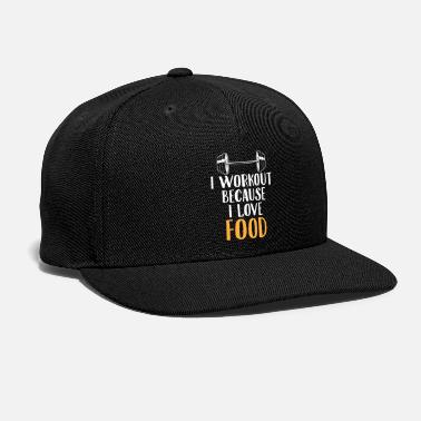 Workout Love Food Gym Workout Foodie Funny Gift - Snap-back Baseball Cap