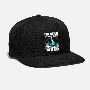 My City New York In My Head Cool Gift - Snap-back Baseball Cap