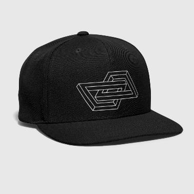 Hipster Optical Illusion - Impossible figure - Geometry - Snap-back Baseball Cap
