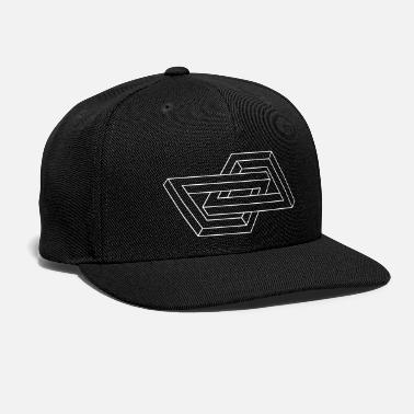 Geometry Optical Illusion - Impossible figure - Geometry - Snap-back Baseball Cap