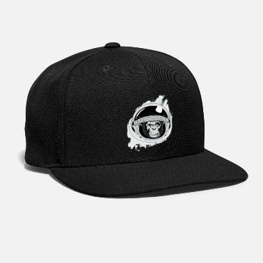 Space Black and white Space Monkey - Snapback Cap