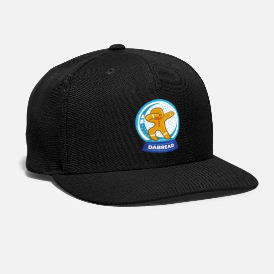Dancing Caps - Dabbing Gingerbread Man Dab Cookie Christmas - Snapback Cap black