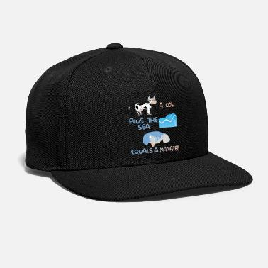 Us Funny Manadesign Pun Product A Cow Plus The Sea - Snapback Cap