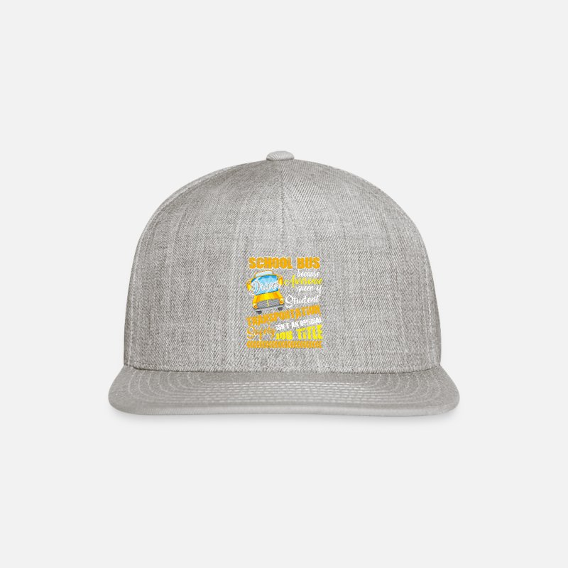 Cool School Bus Driver Profile Snapback Hat for This School Bus Driver Cap