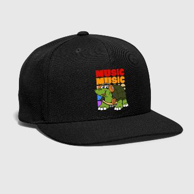 Hip Retro Vintage Pop Art Style Music Turtle - Snap-back Baseball Cap