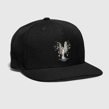 Fantasy Wonderful fairy with birds and feathers - Snap-back Baseball Cap