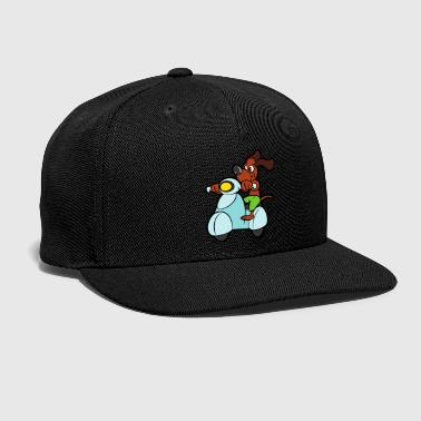 Happiness Motor Scooter Dog - Snap-back Baseball Cap