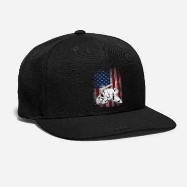 Jiujitsu Jiu JItsu BJJ MMA US Flag Shirt Gift for Jiujitsu - Snap-back Baseball Cap