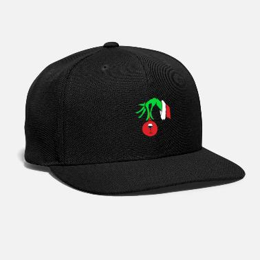 Ornament Funny Grinch Hand Holding Wine Ornament Christmas - Snapback Cap