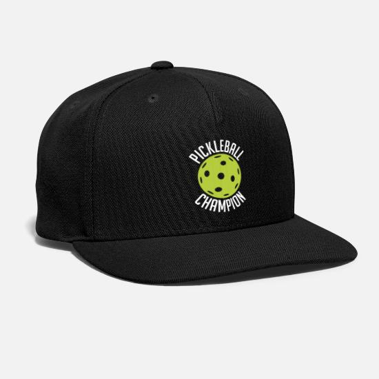 "Sports Caps - ""Pickleball Champion"" For Pickleball Fans - Snapback Cap black"