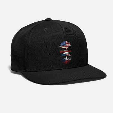 National Czech Republic America roots home love gift - Snap-back Baseball Cap