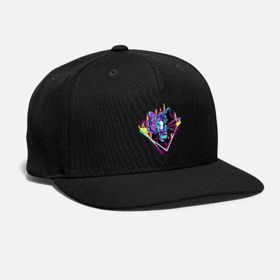 Uv Caps - Neon Tiger - Snapback Cap black