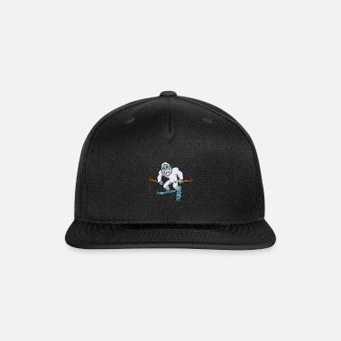 51300a614 Snowboarder Yeti Snowboarding Winter Bigfoot Gift Snapback Cap ...
