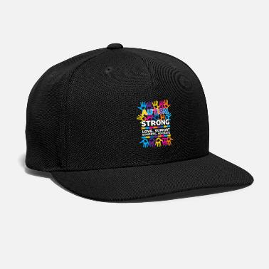 Support Autism Strong Love Support Educate Advocate - Snapback Cap