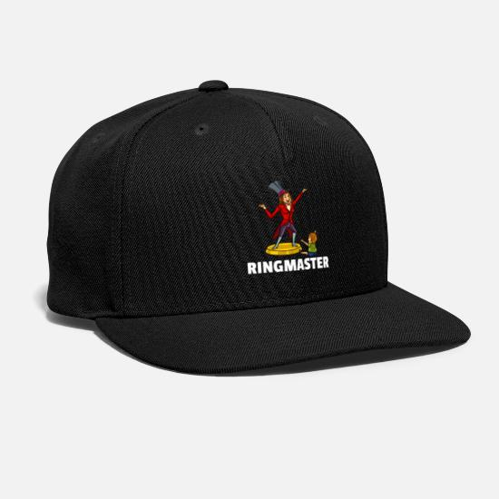 Circus Caps - Ringmaster Mom Circus Mommy Showman Funny Gift - Snapback Cap black