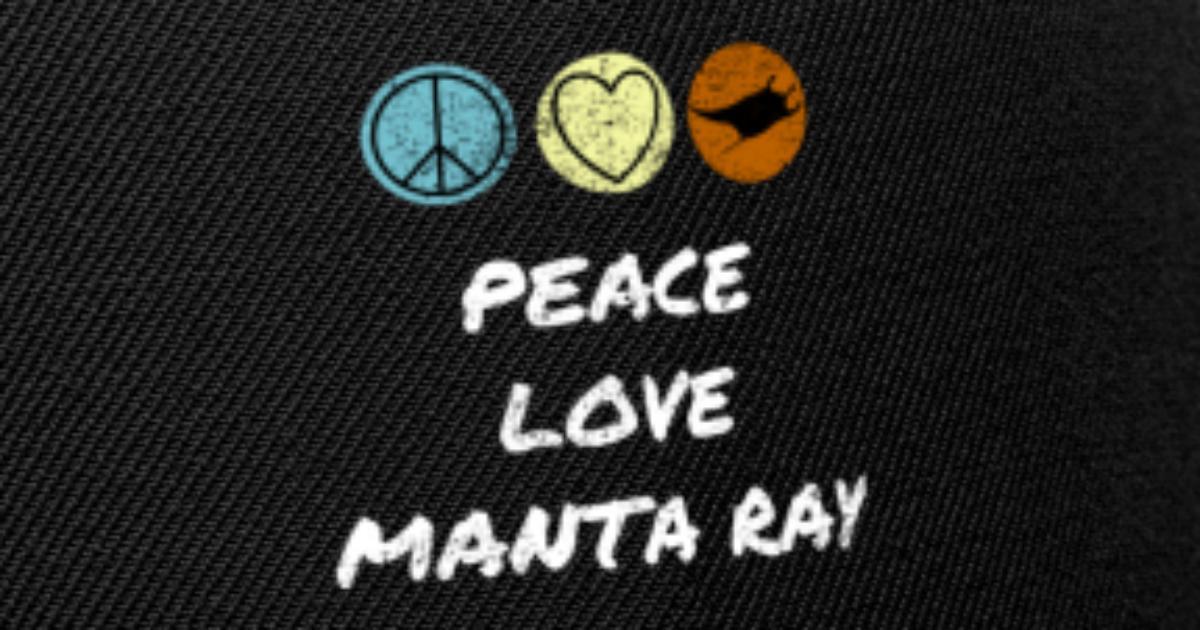 7e8349957 Manta Ray Love & Peace - Protect the ocean Snapback Cap | Spreadshirt