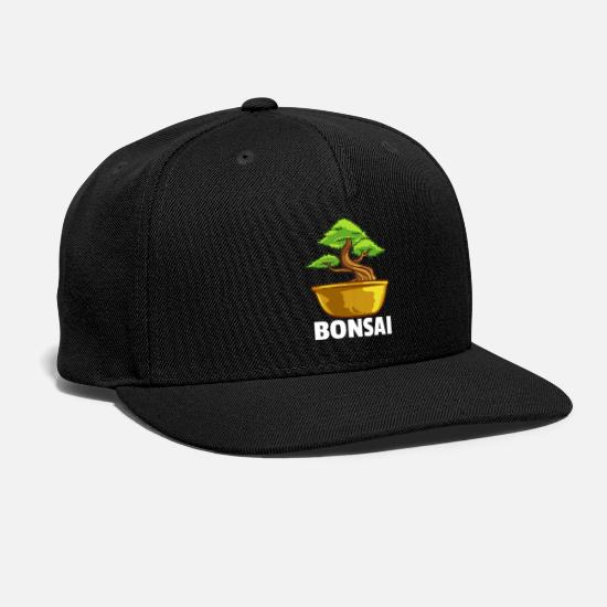 Zen Caps - Bonsai Tree Buddhist Lovers Japanese Zen Gift - Snapback Cap black