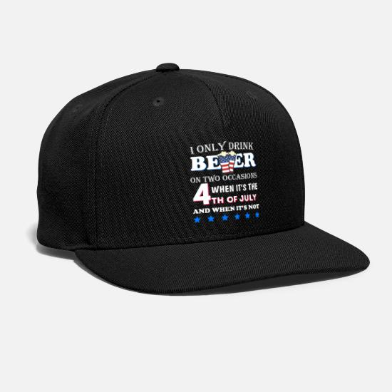 July Caps - Funny 4th of July Beer Party with American Flag - Snapback Cap black