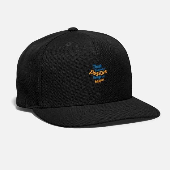 Inspiration Caps - Think Positively & Positive Things will Happen - Snapback Cap black