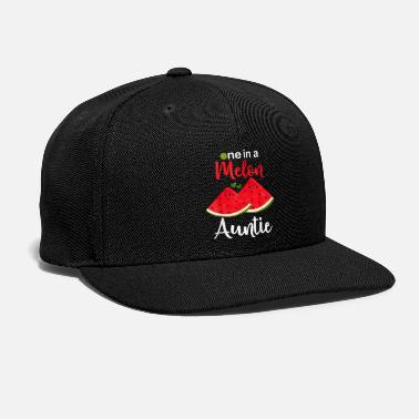 Melon One In A Melon Auntie tee Funny Watermelon T Shir - Snapback Cap
