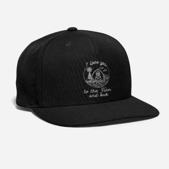 Young Wild And Free Caps - i love you to the farm and back farm - Snapback Cap black