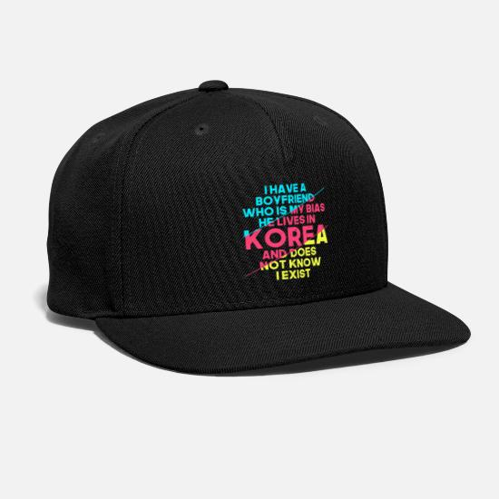 Love Caps - Korean Boyfriend KPop Bias - Snapback Cap black