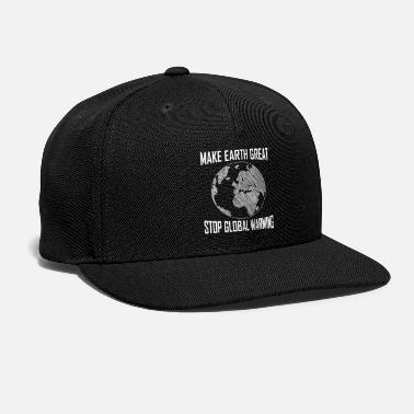 Amazing Make Earth Great Stop Global Warming - Snapback Cap