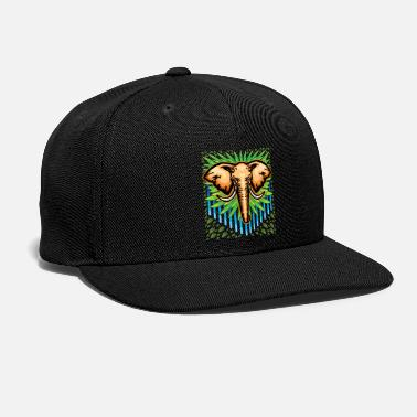 Junglecontest Elephant Vector Drawing - Snapback Cap