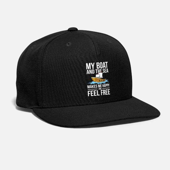 Aesthetic Caps - My Boat and The Sea - Snapback Cap black