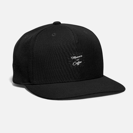 Makeup Caps - Mascara and Coffee Product Gift Collection for - Snapback Cap black