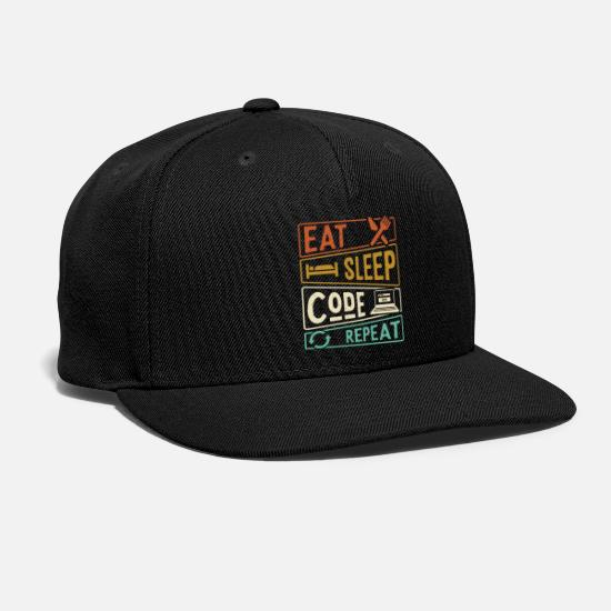 Programmer Caps - Eat Sleep Code Repeat Programming - Snapback Cap black