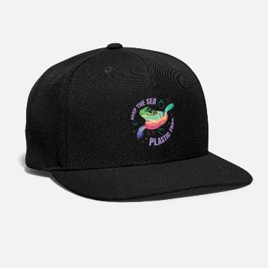 Support Plastic Free Environment Save Sea Turtles - Snapback Cap