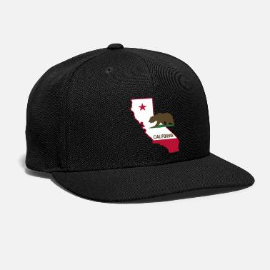 States CALIFORNIA STATE WITH STATE BEAR - Snapback Cap