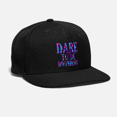 Think Different Cool quote - Artistic Text Typography - Snapback Cap