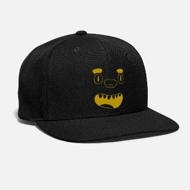 Puzzle Gold laughing puzzle nose face - gift, gift idea - Snap-back Baseball Cap