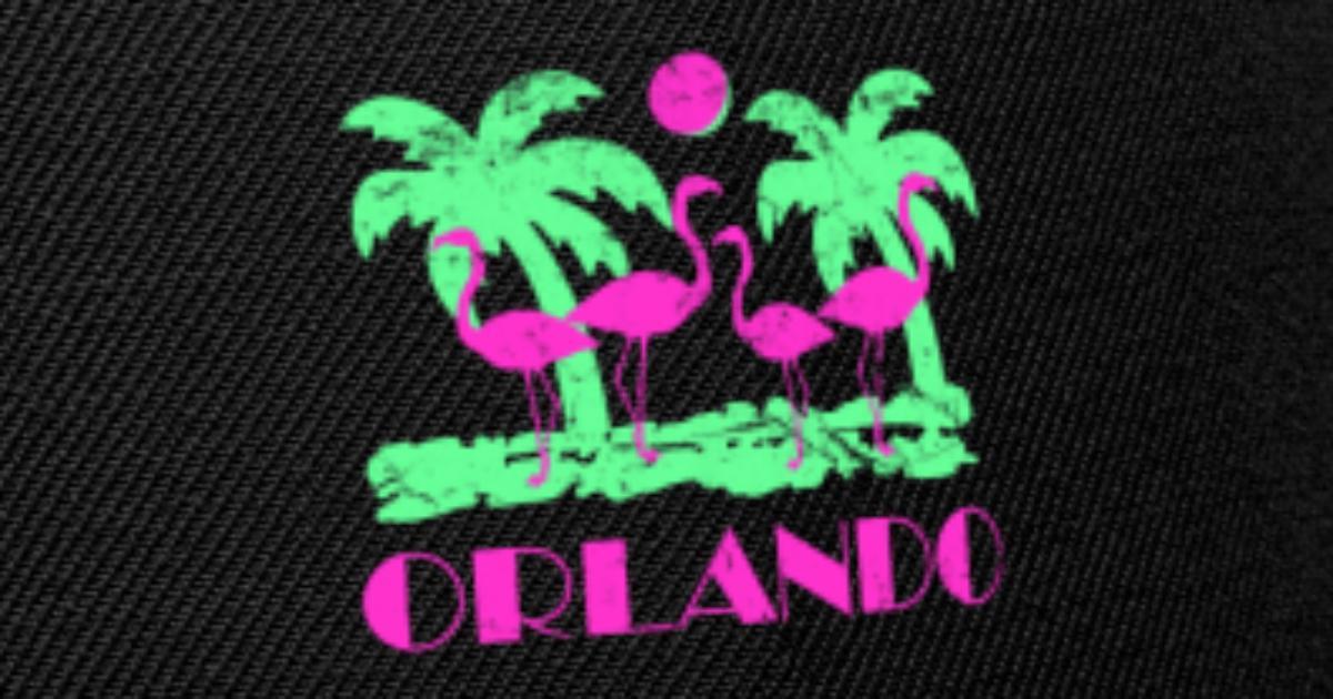 45f1aa170af Retro Orlando Florida Snapback Cap