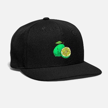 Fruit Retro Vintage Grunge Style Lime - Snap-back Baseball Cap