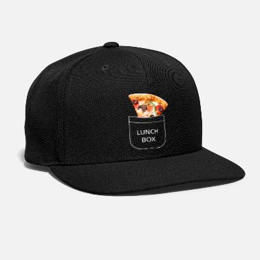 Lunch-boxes Pizza slice in the breast pocket. Lunch box. - Snapback Cap