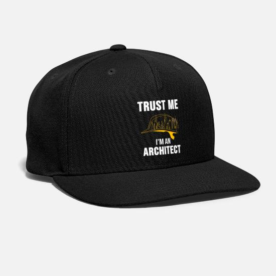 Architect Caps - Architect Shirt Architecture House Building Gift - Snapback Cap black