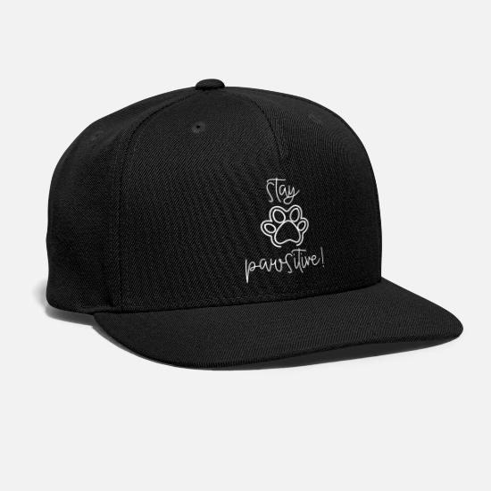 Pawprint Caps - Stay Pawsitive - Snapback Cap black