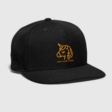 Uni Uni-Candy-Corn | Funny Halloween Unicorn - Snap-back Baseball Cap