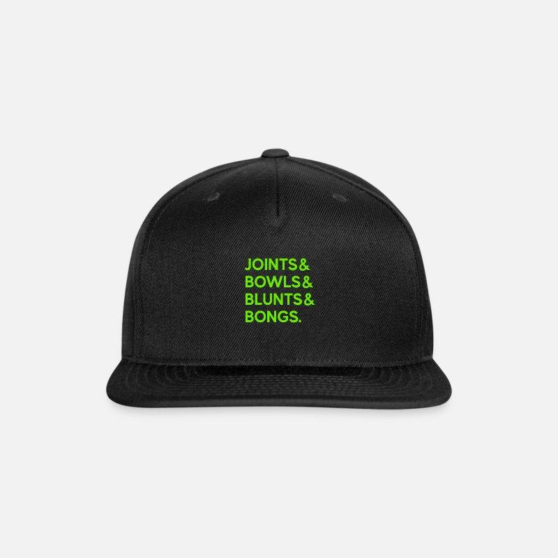 1acfa366259 Joints Bowls Blunts and Bongs T-Shirt Snapback Cap