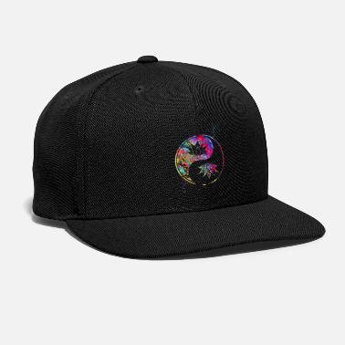 Buddhism Lotus in Yin Yang, Spirituality, Buddhism, Symbol - Snap-back Baseball Cap
