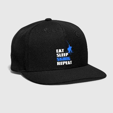 Ski Jumping Ski Skiing Freestyle Jump Winter Sports Jumping - Snap-back Baseball Cap